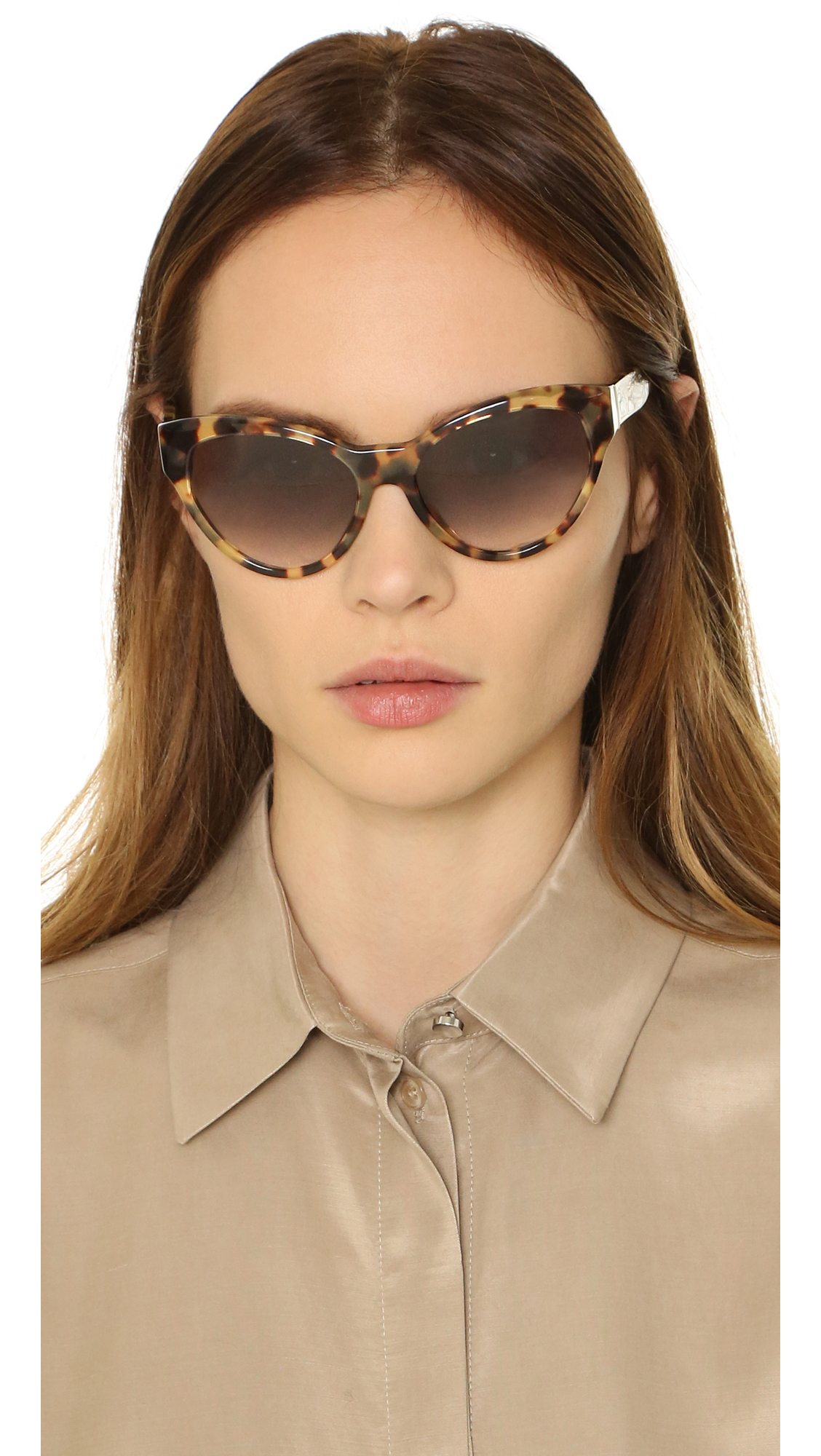 1ab1260f183 ... switzerland lyst prada cat eye sunglasses 71cbb 8a39a