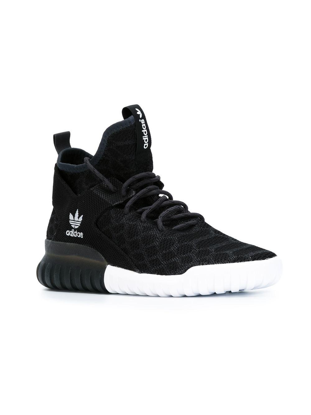 adidas originals tubular x primeknit sneakers in black