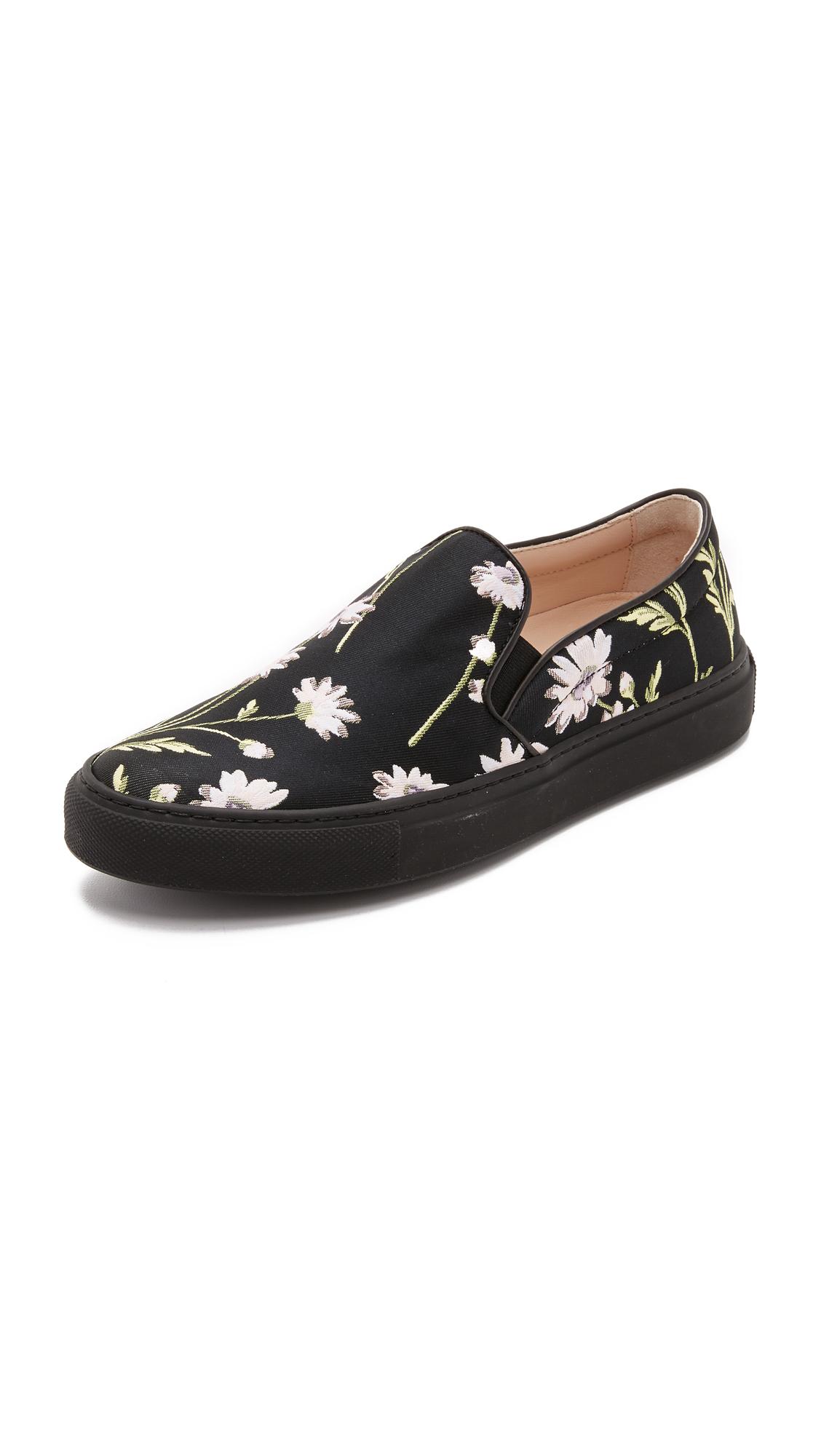 cheap view 2014 unisex online Giambattista Valli Floral Print Slip-On Sneakers Ac8T1JWeYh
