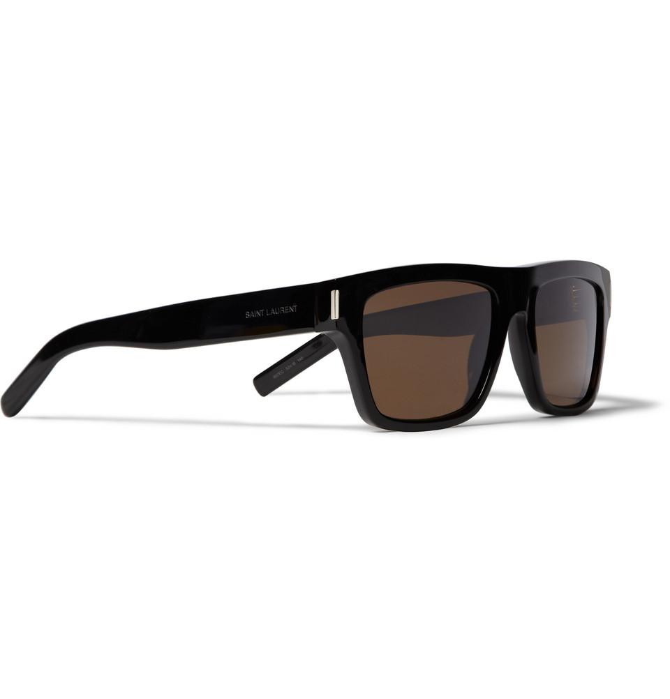 dfba9ec05d02 Saint Laurent Sl5 Square-Frame Acetate Sunglasses in Black for Men ...