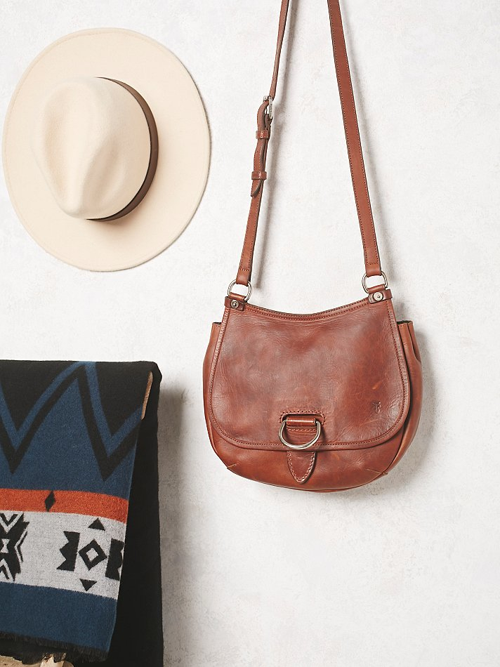 a0bba13bce34fa Free People Frye Womens Amy Leather Saddle Bag in Brown - Lyst