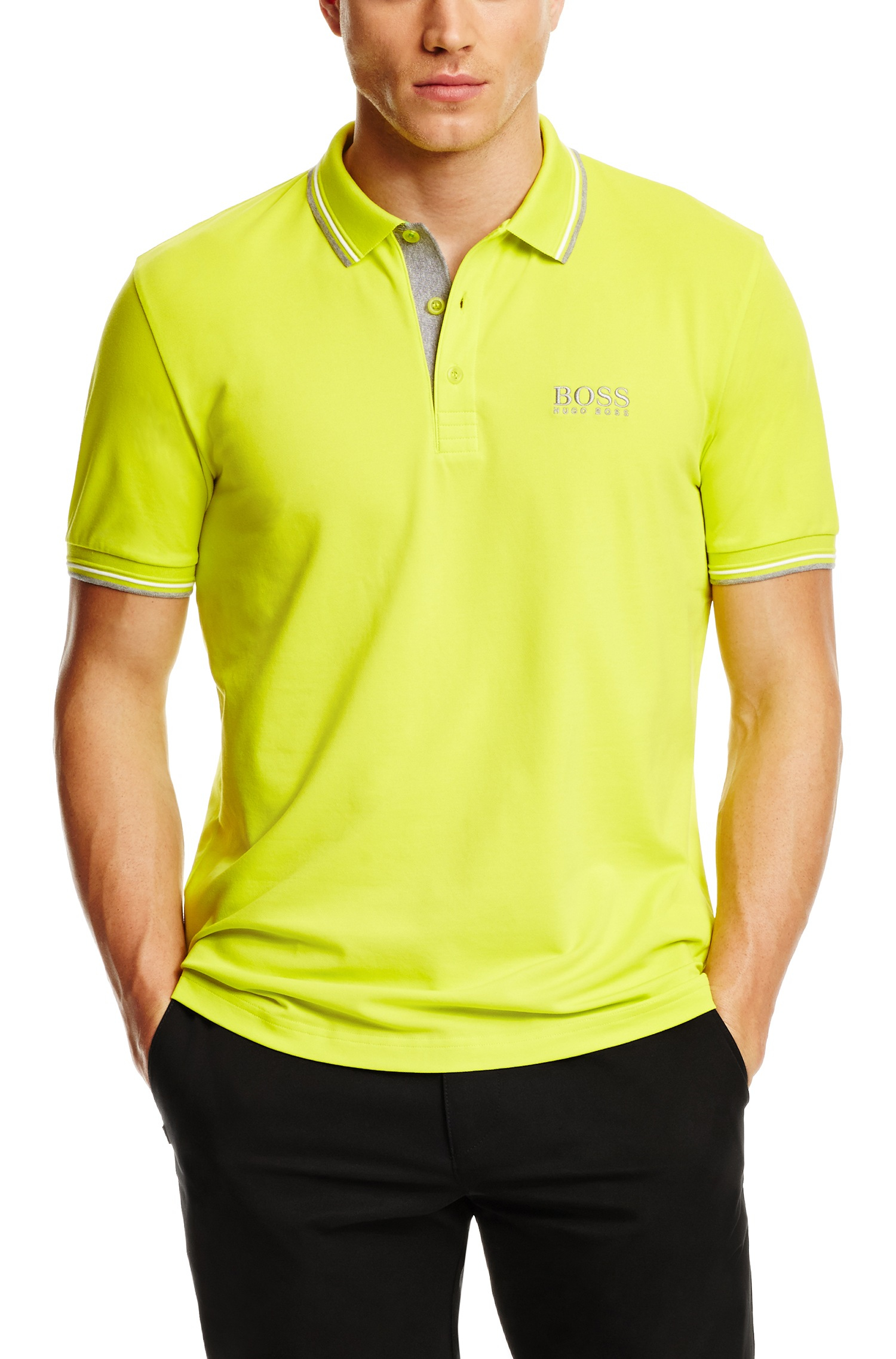 14adc563b BOSS Green 'Paddy Pro' | Modern Fit, Moisture Manager Stretch Cotton ...