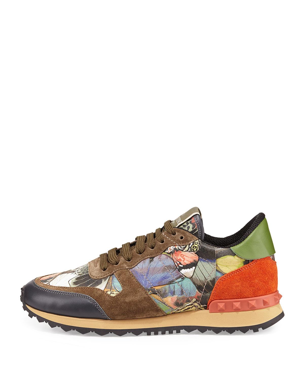 c2746c91cd4 Sneaker Sneaker Camouflage Camouflage Camouflage Butterfly Lyst Valentino  Rockstud 5IwwXE