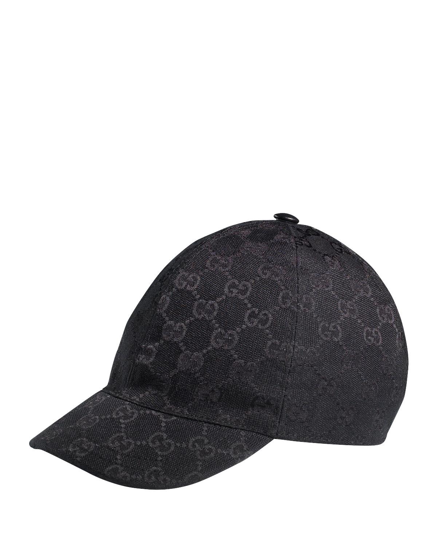 Lyst - Gucci Gg Baseball Cap in Black for Men 0e682ba048f