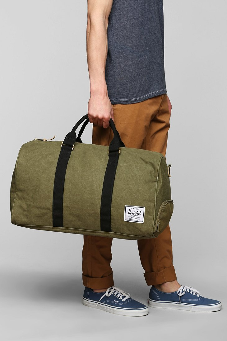7188ece21f90 Lyst - Herschel Supply Co. Novel Cotton Canvas Weekender Bag in ...