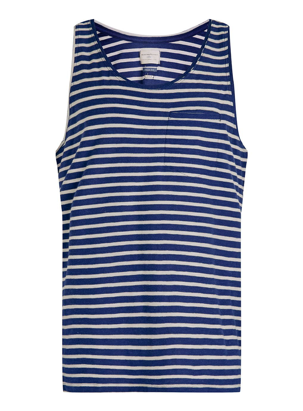 Lyst Topman Selected Homme White And Navy Striped Tank