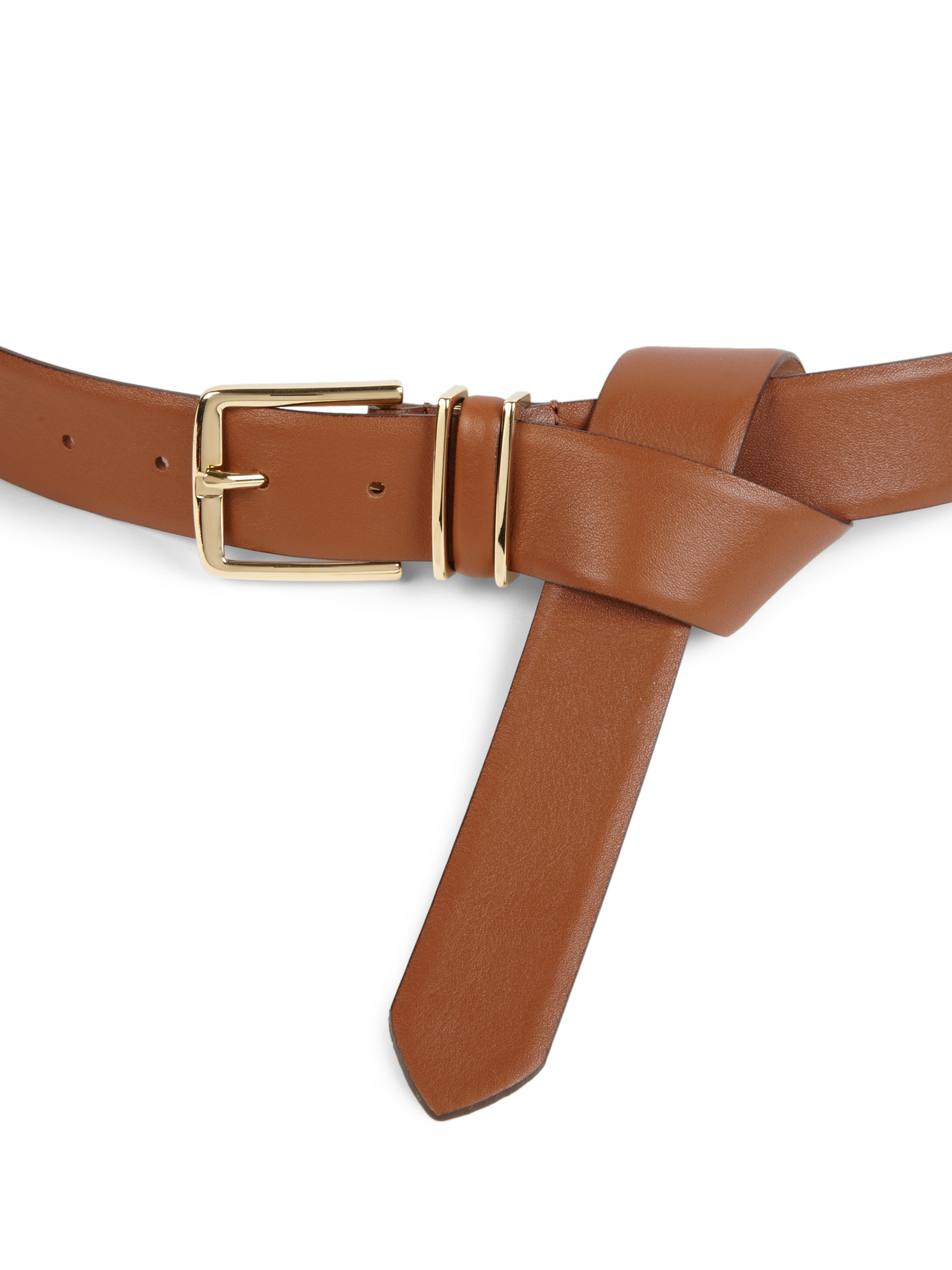 max mara alare leather wrap belt in brown lyst