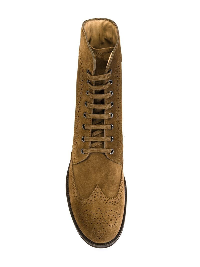 tod s brogue boots in brown for lyst