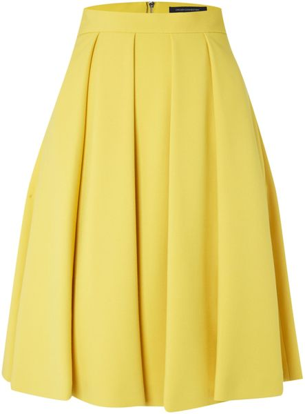 connection feather light flared midi skirt in