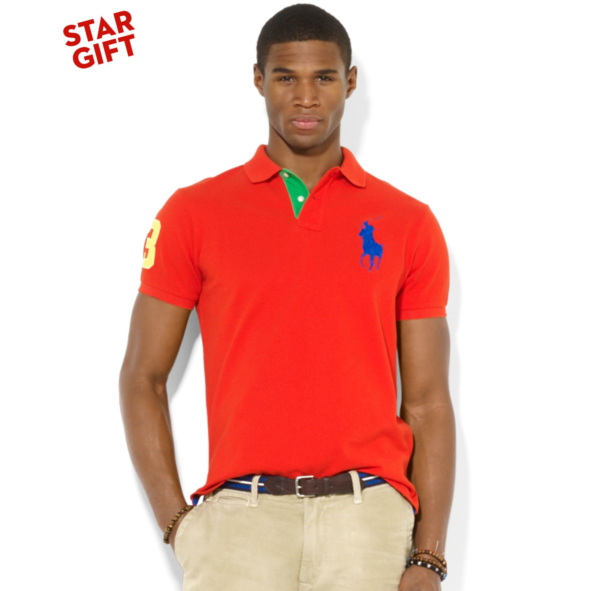 Polo Ralph Lauren Men Mesh Blue Big Pony .