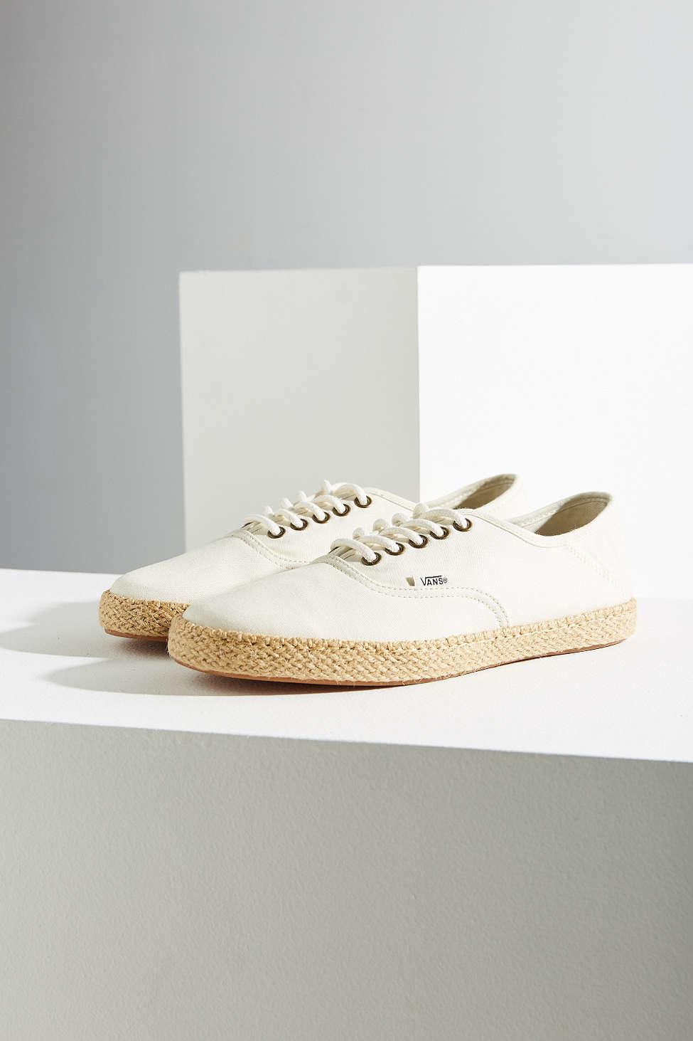 86ecaa62f0e Lyst - Vans Surf Authentic Espadrille Sneaker in White