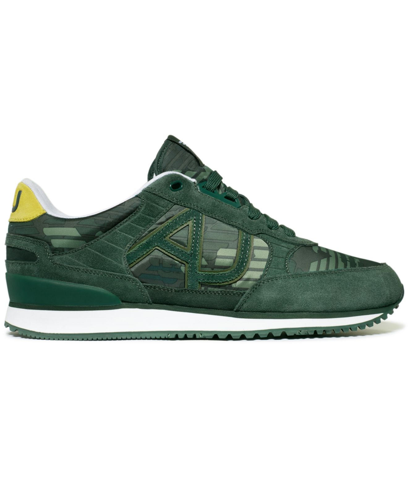 armani logo sneakers in green for lyst