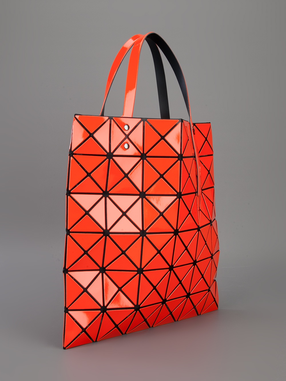 6f7067563b7d ... Messenger Bag  half off 1a14f ccf3e Lyst - Bao Bao Issey Miyake  Geometric Mesh Detail Tote in Or ...