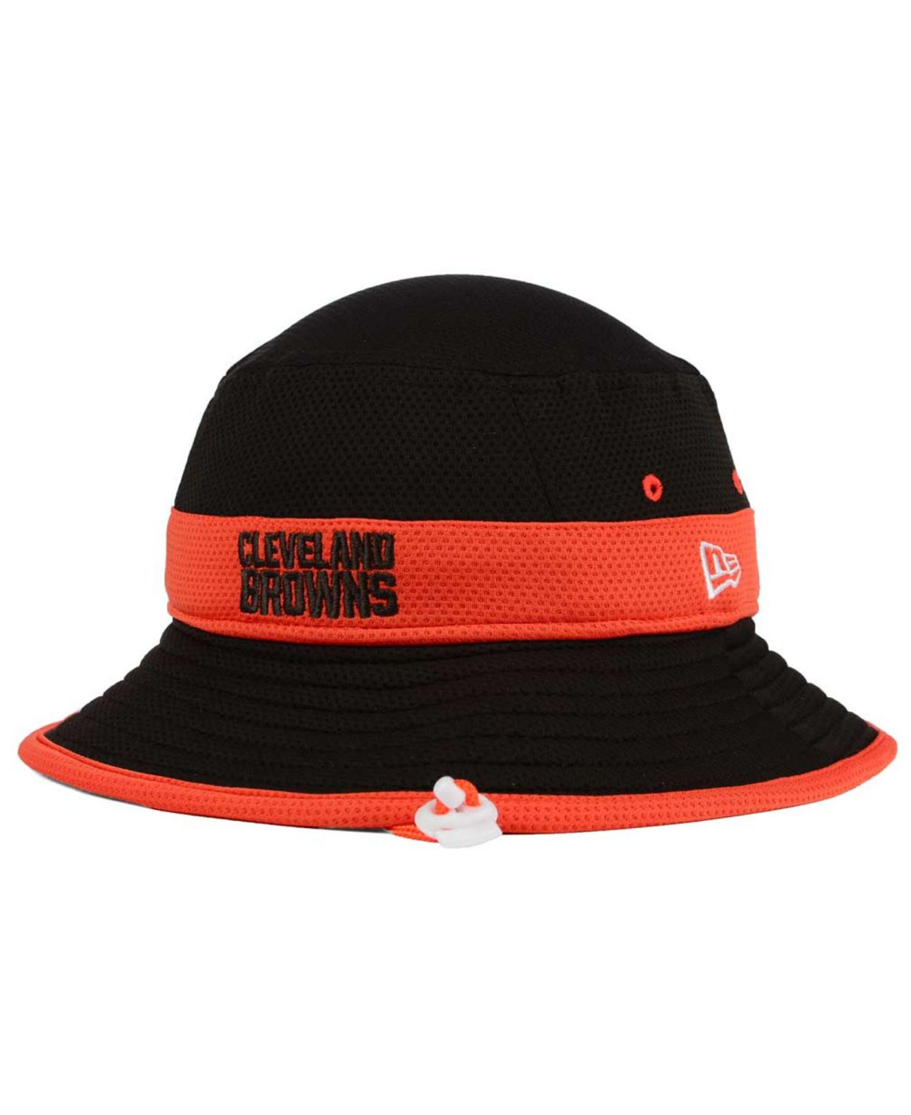 941354b9c636b5 KTZ Cleveland Browns Training Camp Reverse Bucket Hat in Black for ...