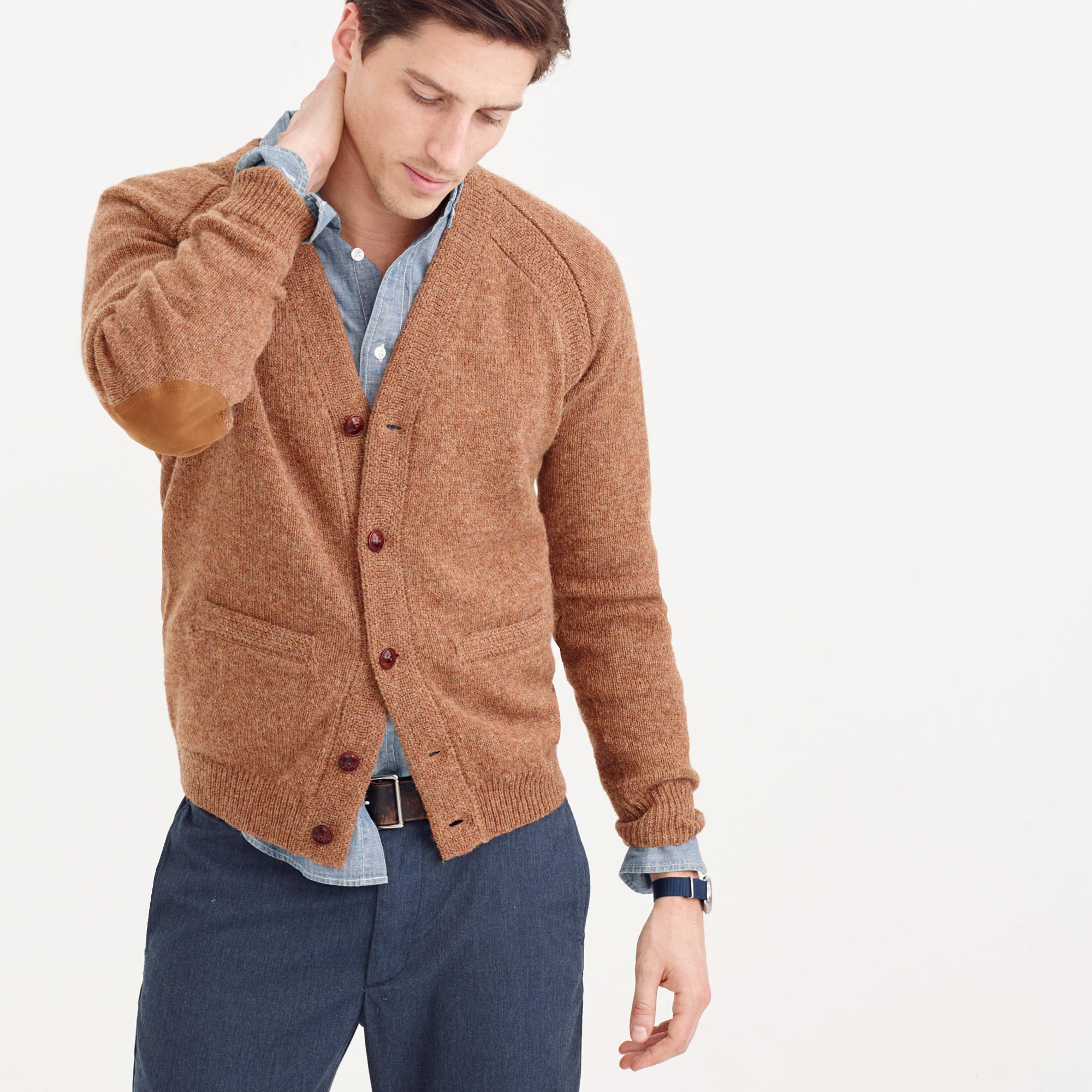 J.crew Wallace & Barnes English Shetland Wool Cardigan Sweater in ...