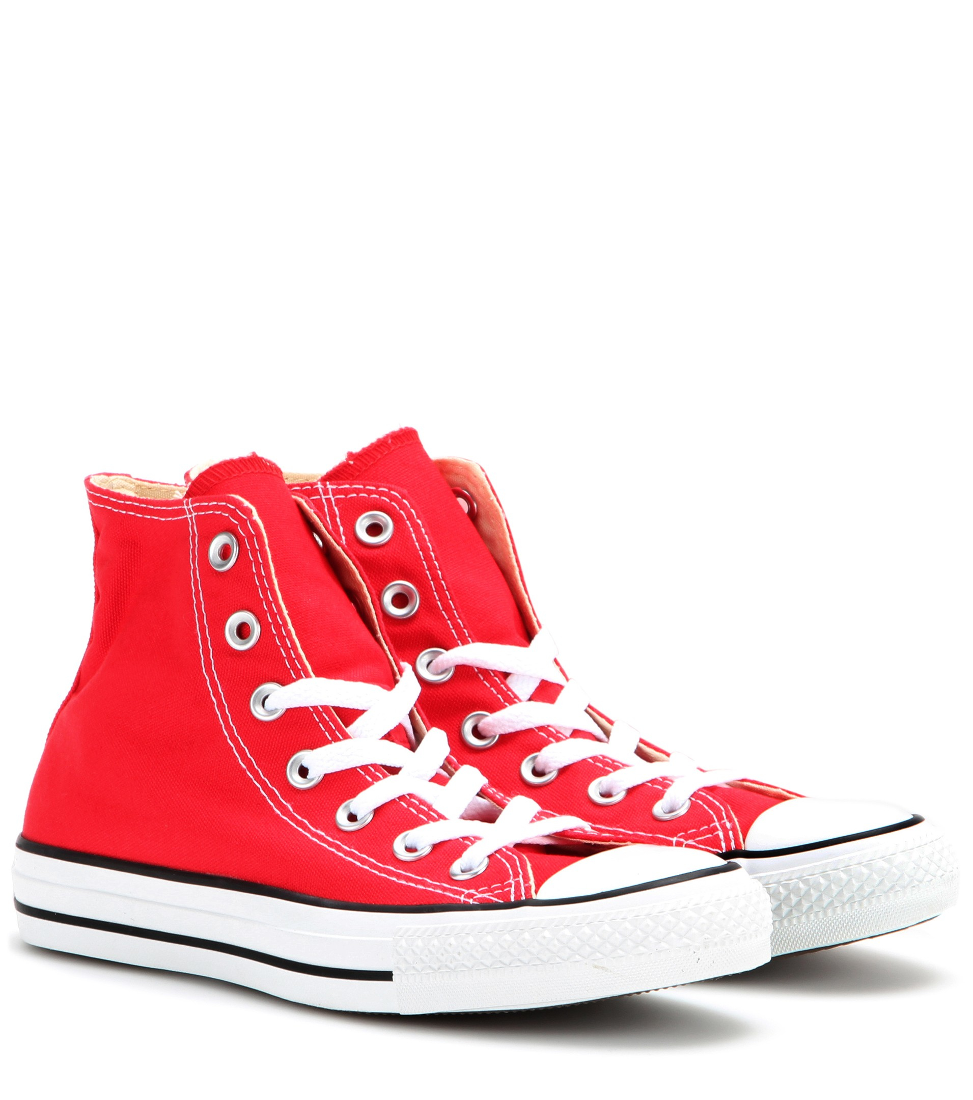 Lyst - Converse Chuck Taylor All Star High-top Sneakers in Red