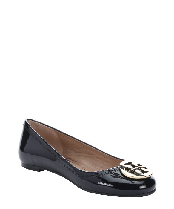 dc9f15a59091 ... new zealand lyst tory burch bright navy patent leather reva ballerina  flats 09fb6 0e89d