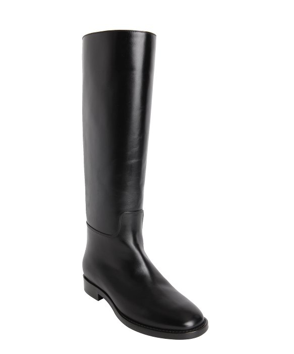tom ford zip back calfskin knee high boots in black