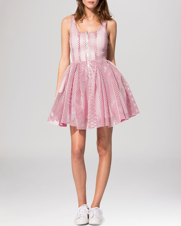 1a5c221a27 Lyst - Maje Dress - Reta Openwork Puff in Pink