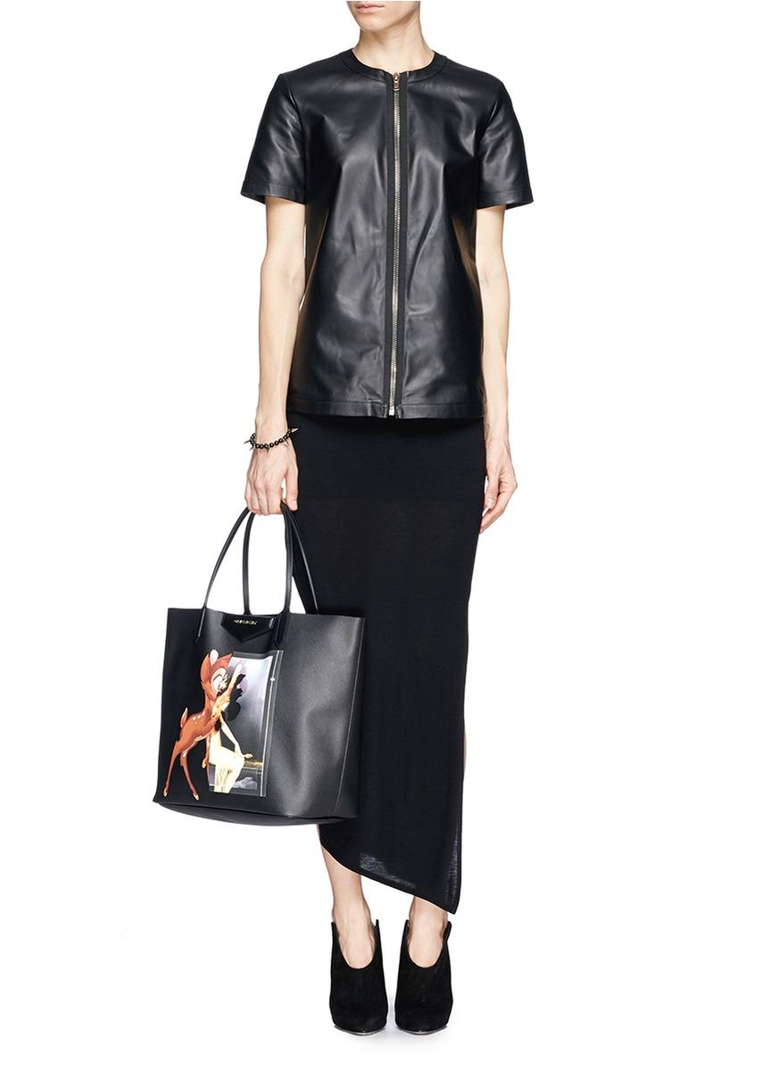 36cd249625 Givenchy  antigona  Medium Bambi Print Tote in Black - Lyst