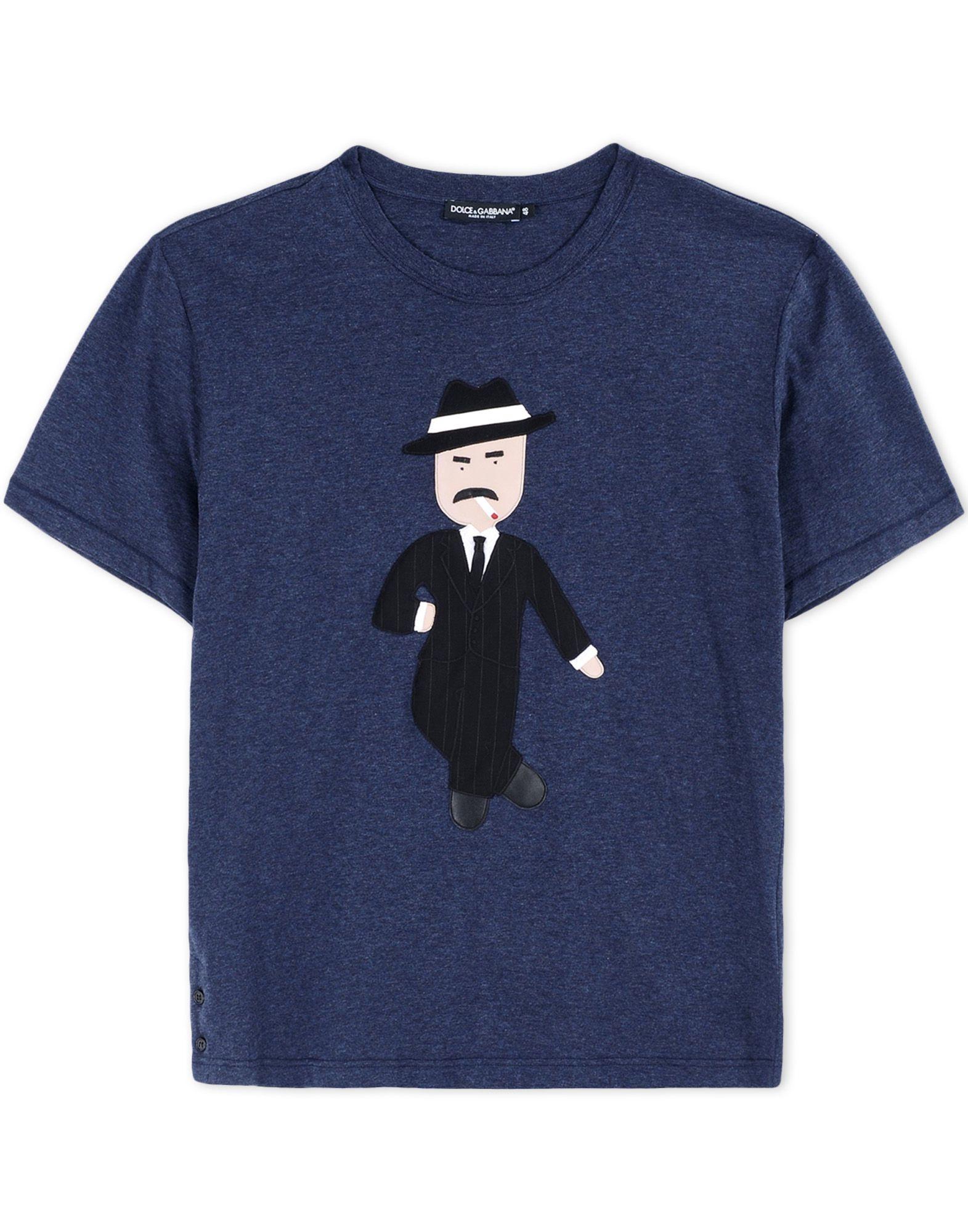 dolce gabbana short sleeve t shirt in blue for men. Black Bedroom Furniture Sets. Home Design Ideas