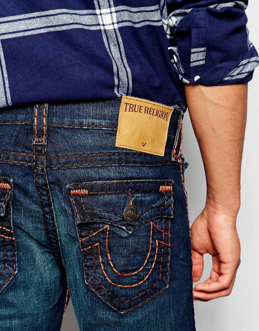 4303dc292 True Religion Jeans Ricky Super T Straight Fit Dark Wash in Blue for ...