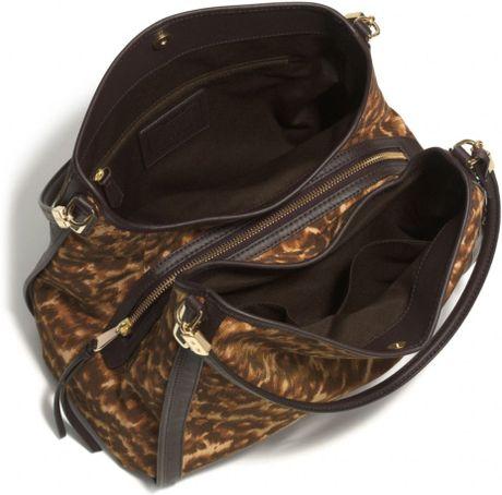 Madison Phoebe Shoulder Bag In Ocelot Print Fabric 65