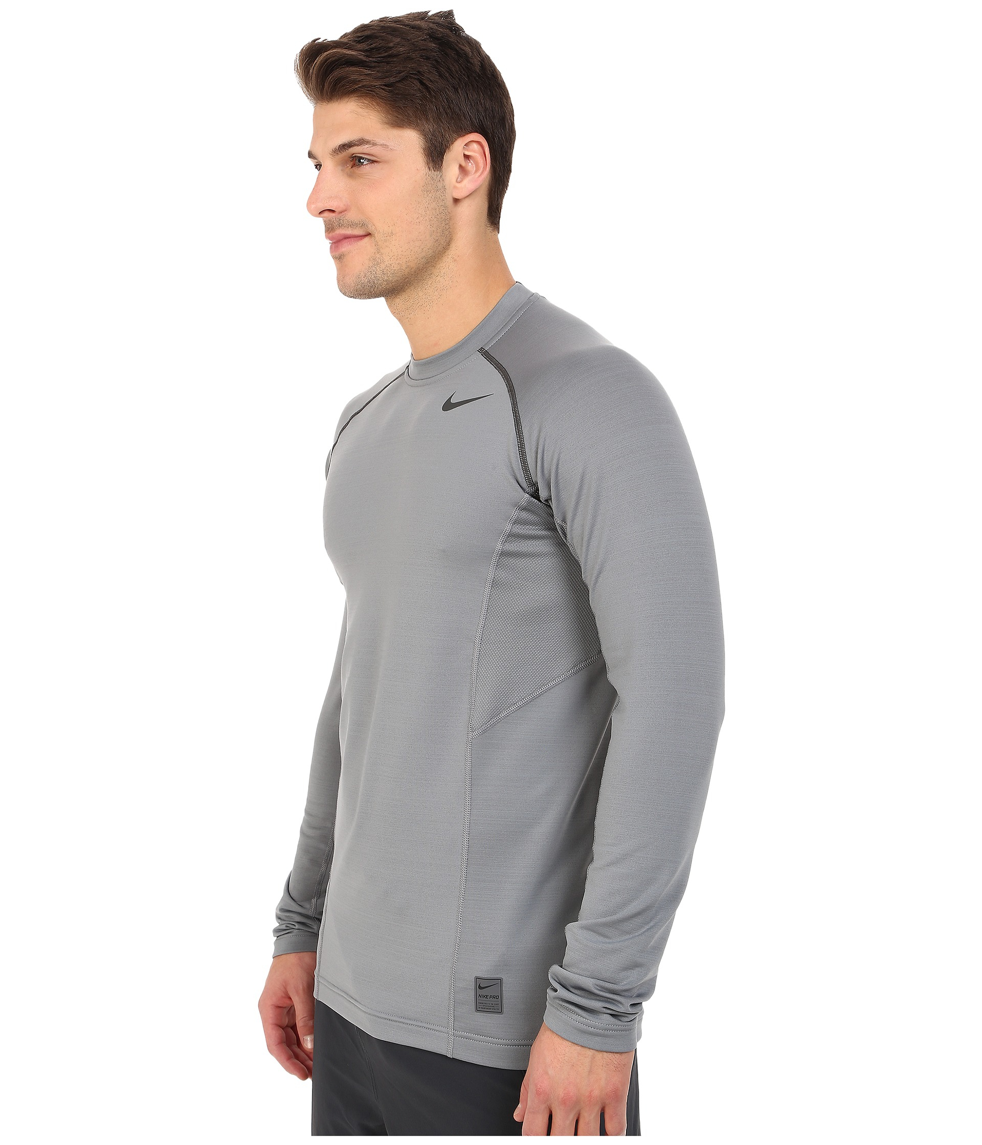 de812ac0 Nike Hyperwarm Dri-fit™ Max Fitted Long Sleeve Top in Gray for Men ...