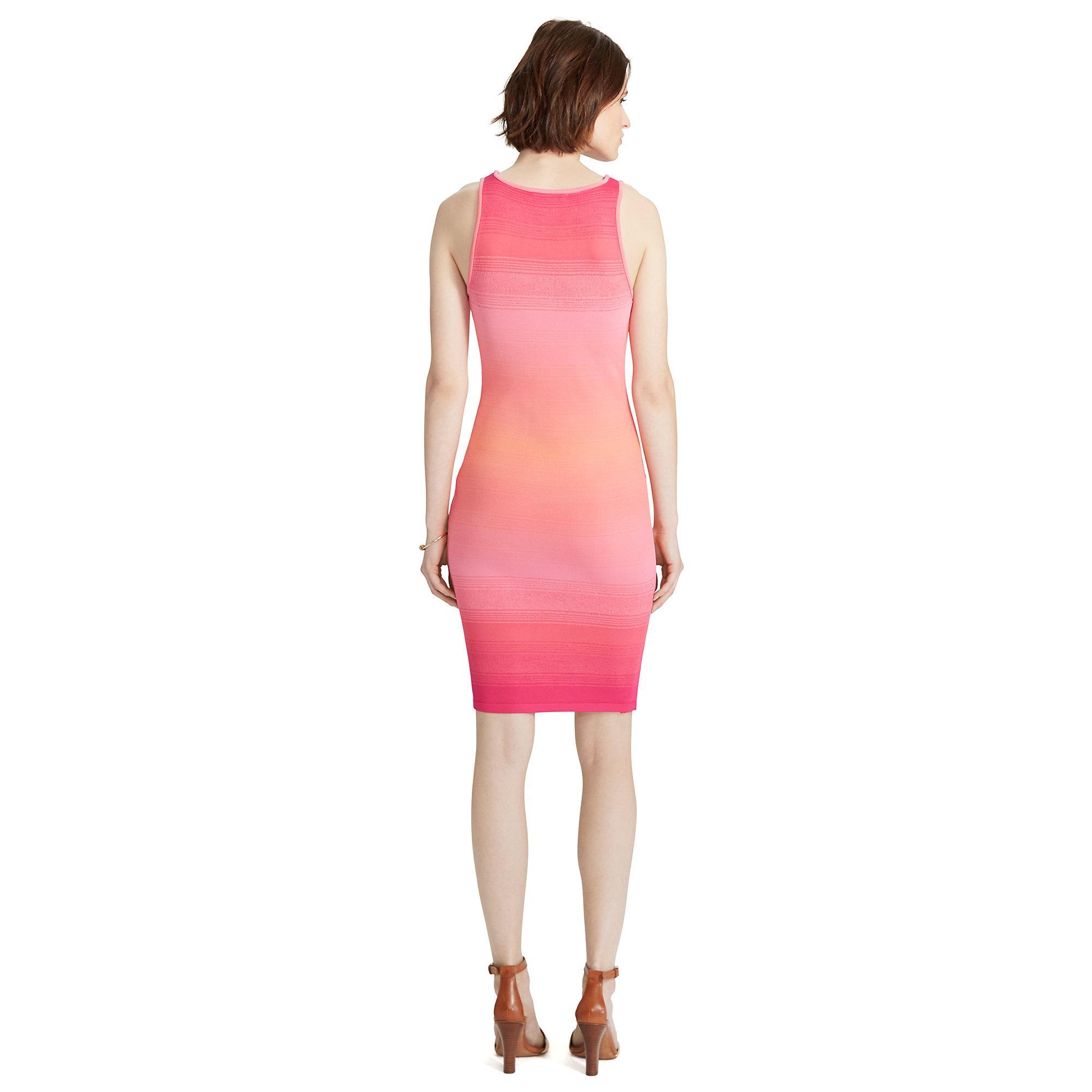 afe2149b5750e Lyst - Ralph Lauren Ombré Knit Dress in Pink
