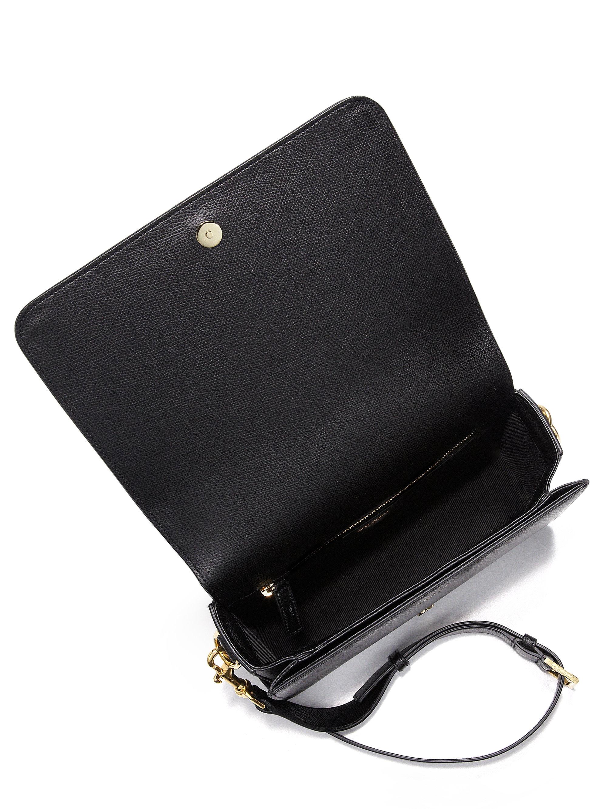 Monogram small universite satchel bag black new ysl handbags for Porte carte ysl