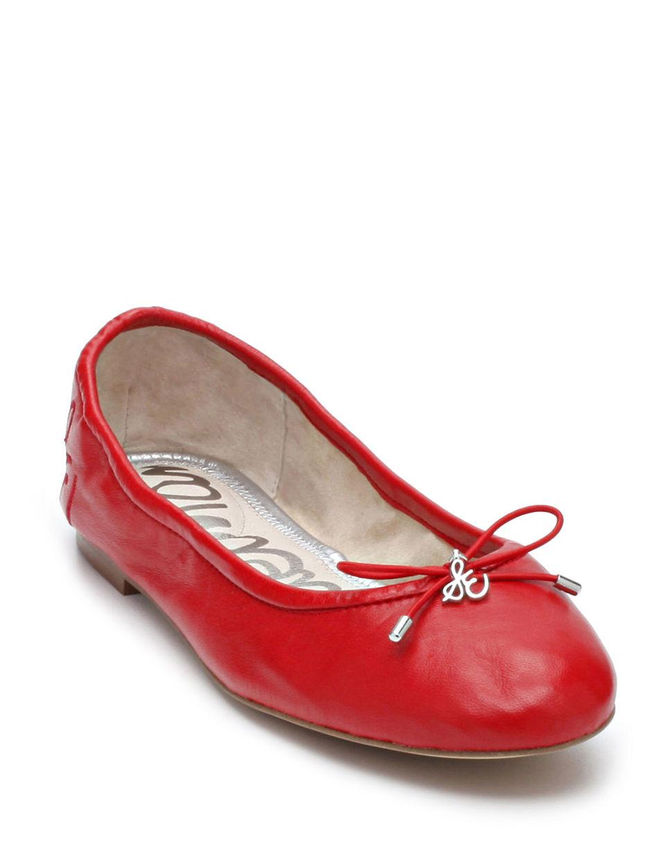 85976699f420f4 Sam Edelman Felicia Leather Flats in Red - Lyst