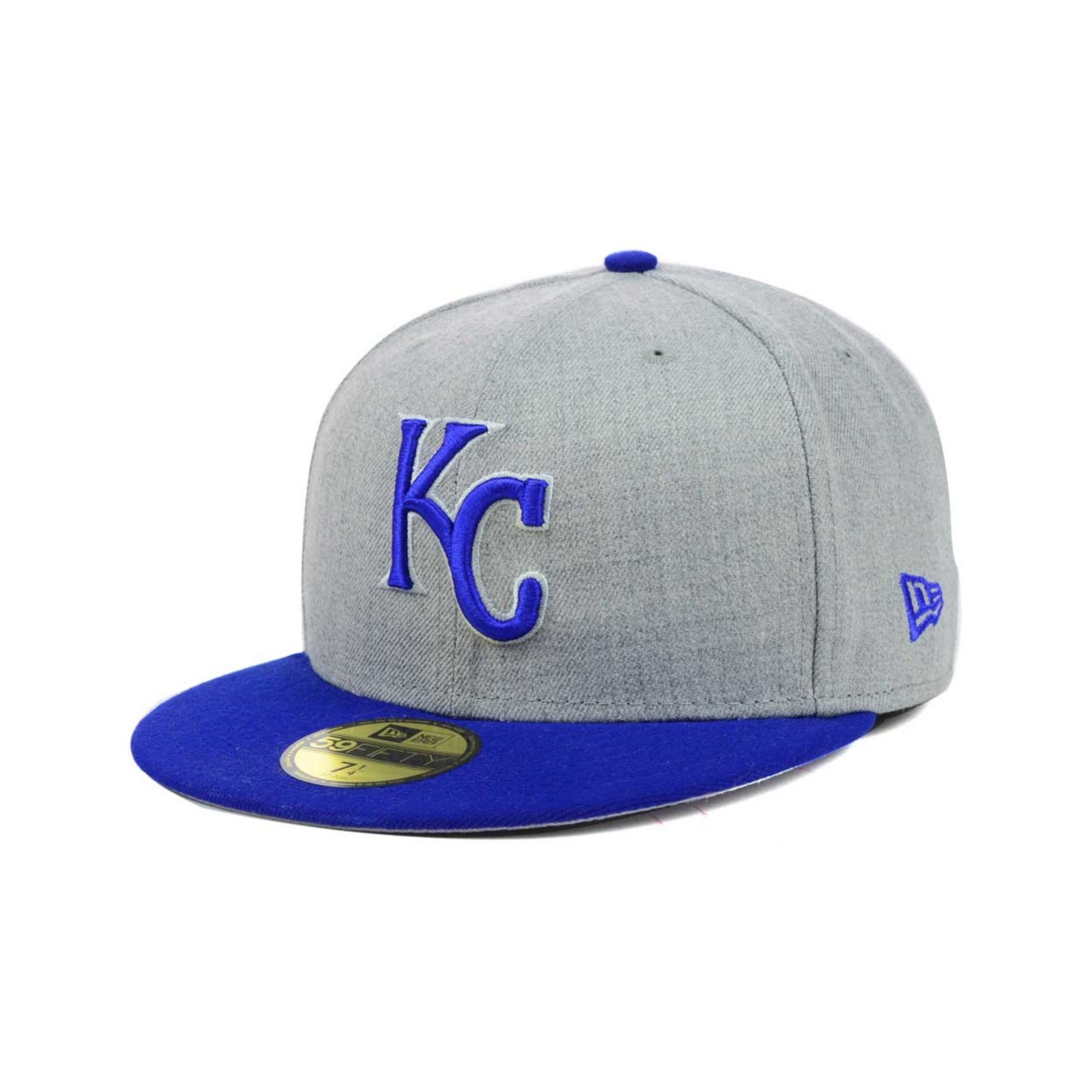 pretty nice f2d25 c8250 ... promo code for lyst ktz kansas city royals mlb heather basic 59fifty cap  in blue for