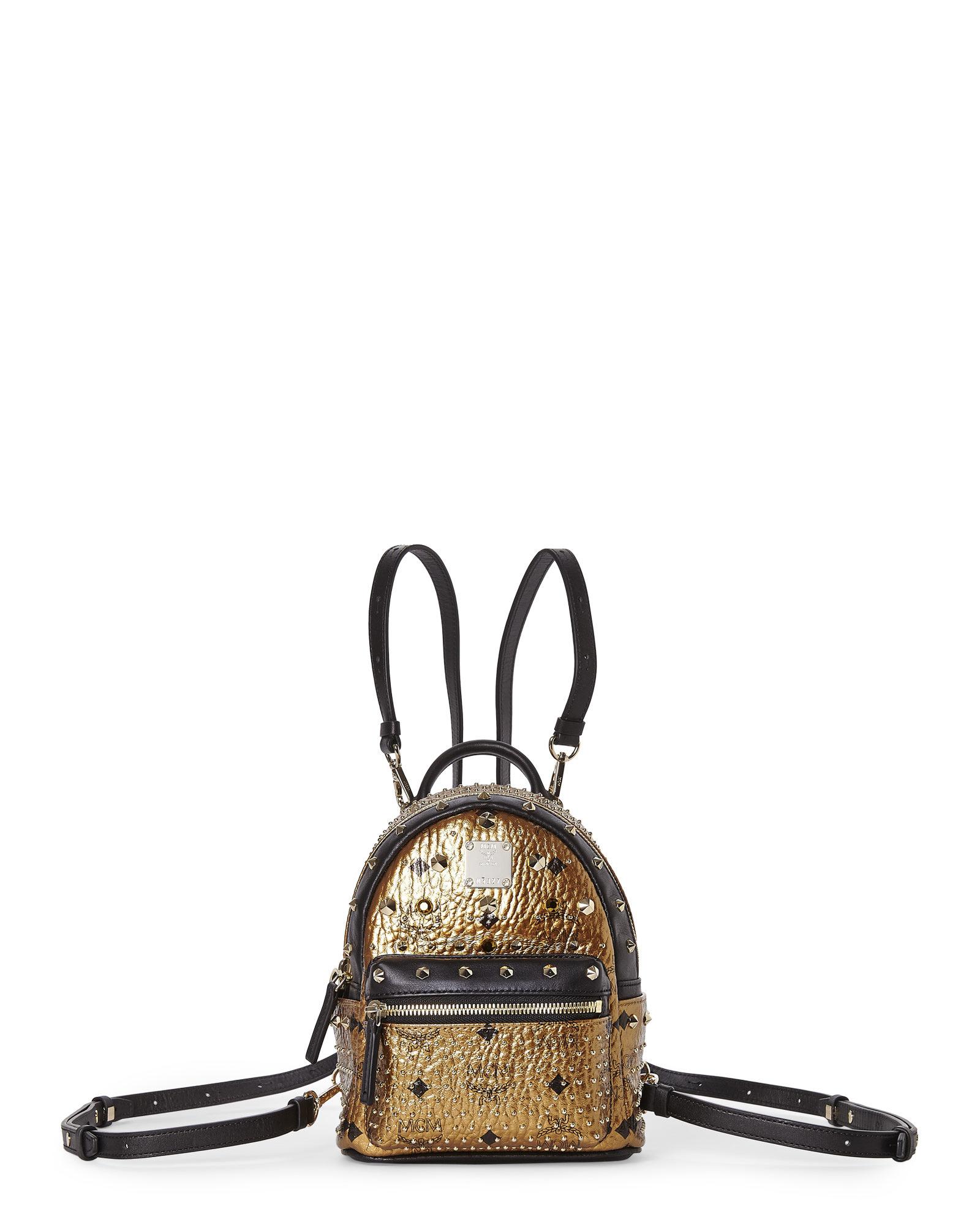 147e4faf22fb Lyst - MCM Gold   Black Diamond Stark Mini Backpack in Metallic