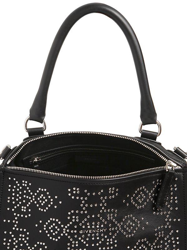 50b6c88a64ff Lyst - Givenchy Medium Pandora Studded Leather Bag in Black
