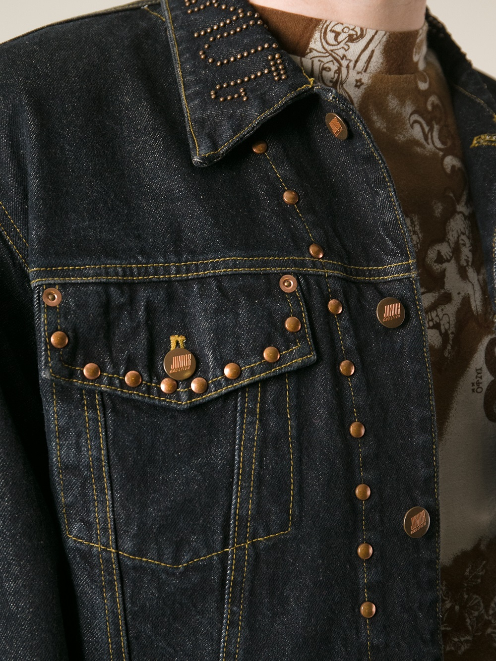 Jean Paul Gaultier Junior Gaultier Studded Denim Jacket In