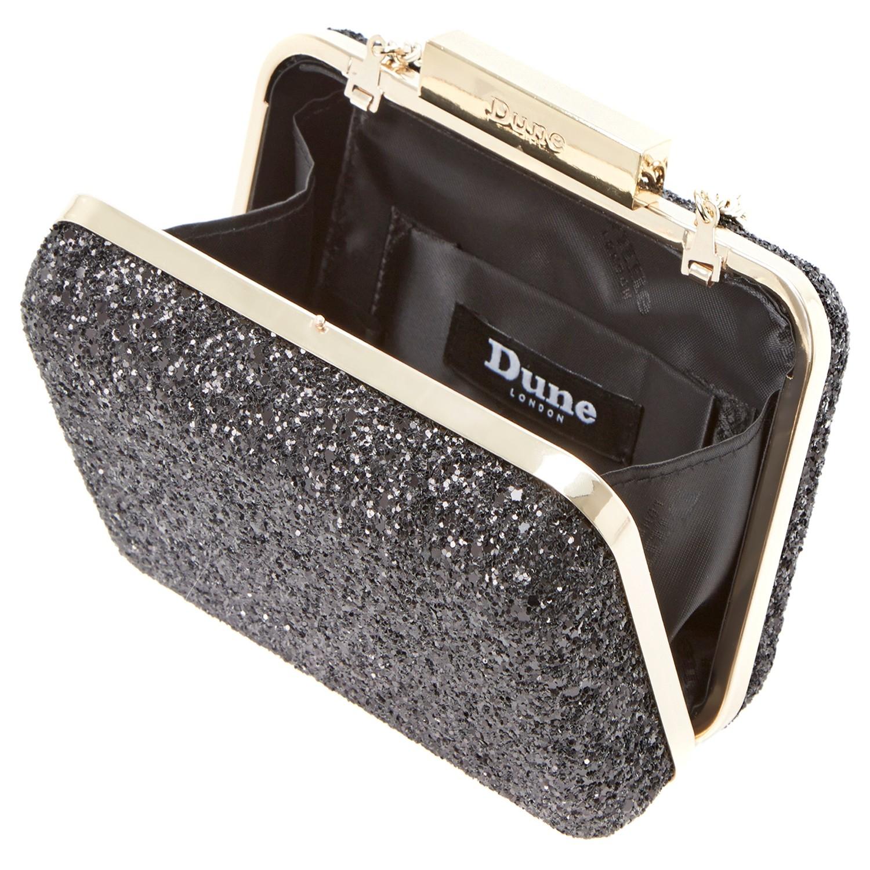 Dune Chunky Glitter Clutch Bag in Black - Lyst e9589b820e