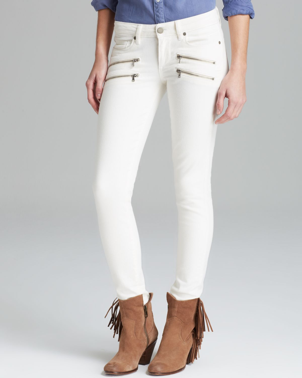 Paige Jeans Edgemont Ultra Skinny in Vanilla Bean in White | Lyst