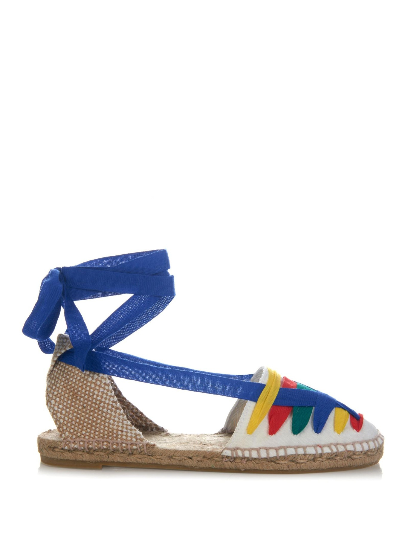 Lyst Castaner Jean Wrap Ribbon Canvas Espadrilles In Blue