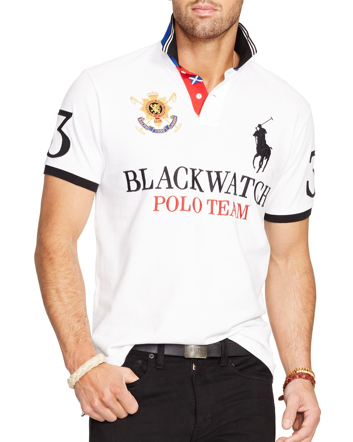 23809f964e81 Ralph lauren Polo Black Watch Custom-fit Polo Shirt - Slim Fit in White for  Men | Lyst