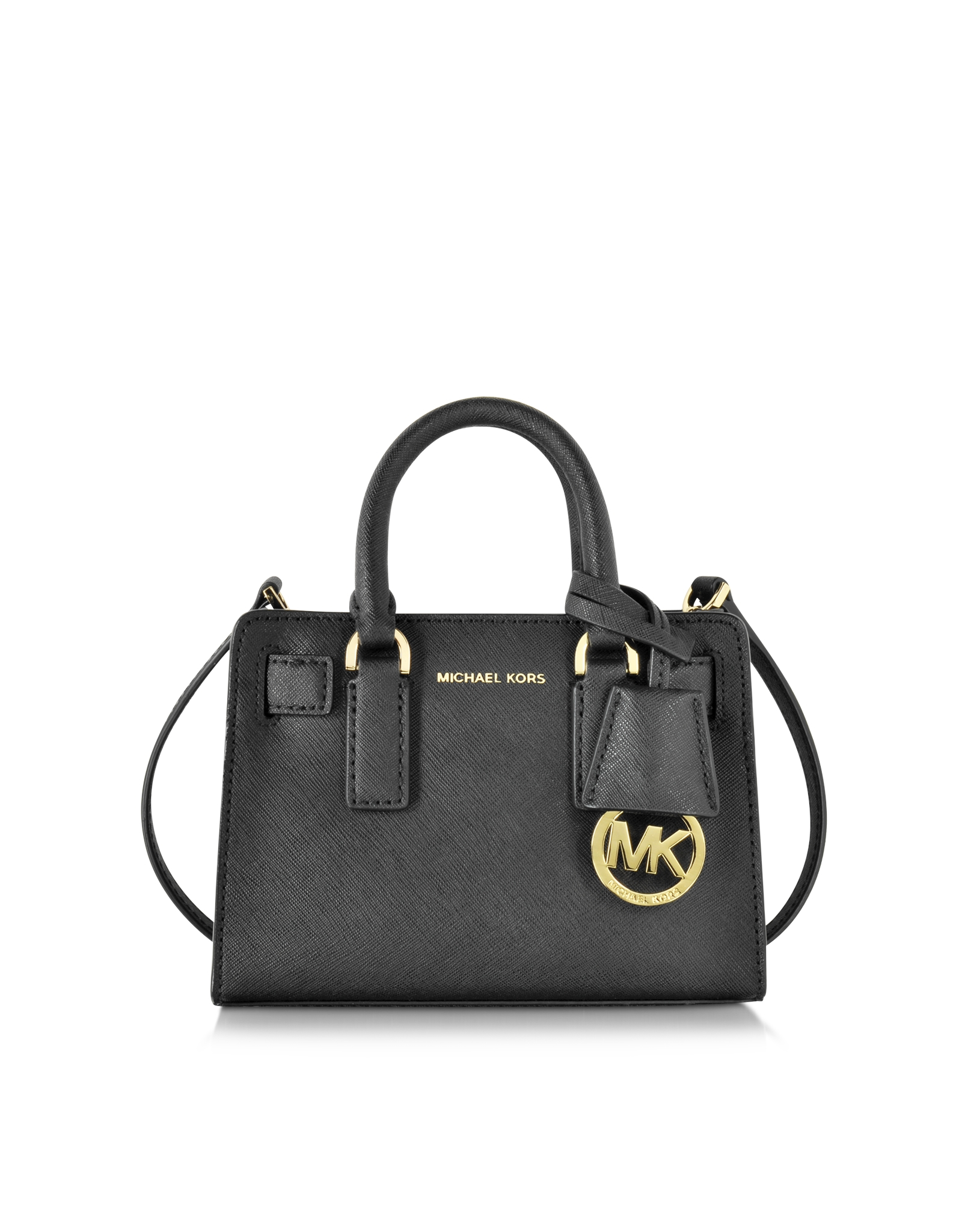 95d1326278a3a Lyst - Michael Kors Dillon Black Saffiano Leather Extra Small ...