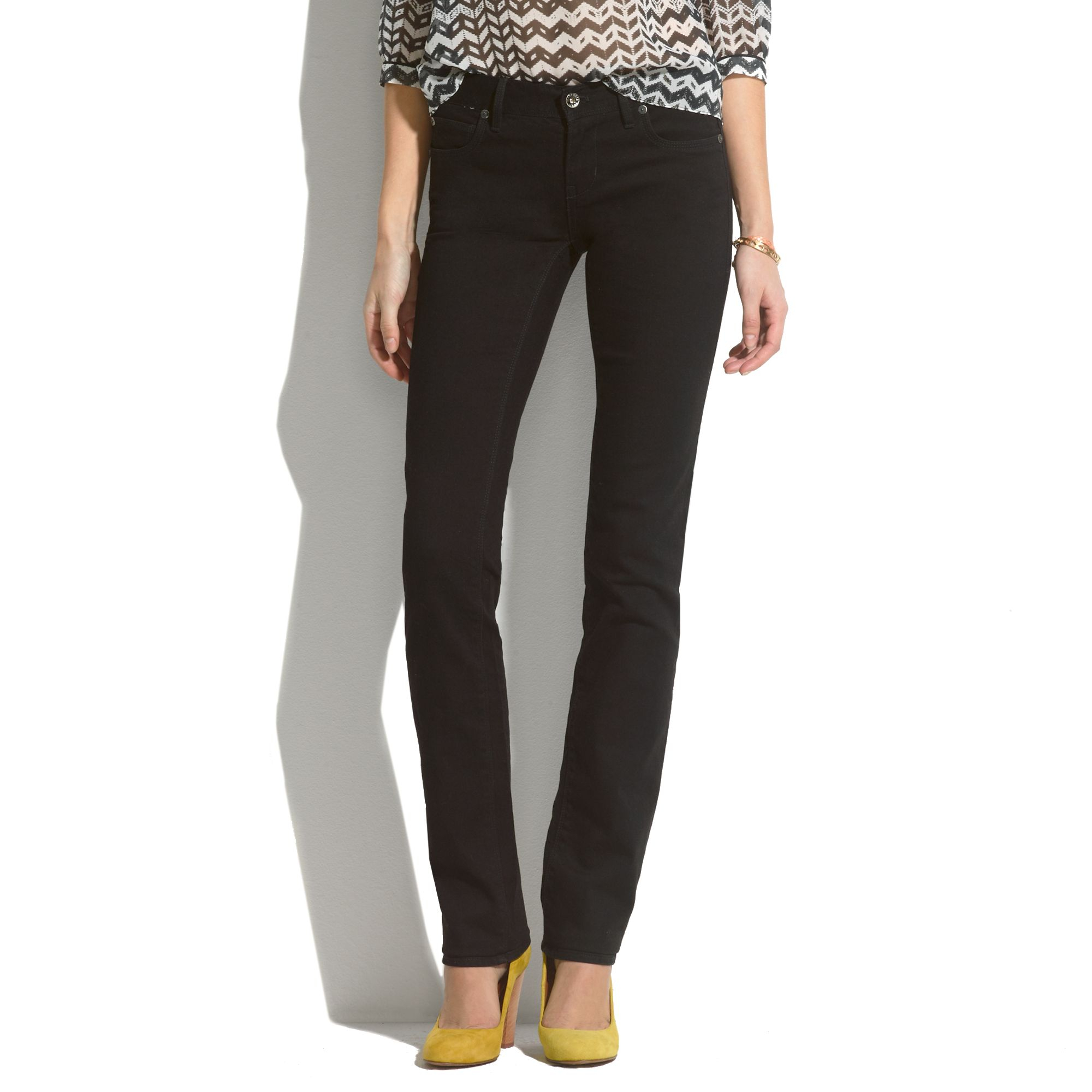 Madewell Rail Straight Jeans In Black Frost in Black | Lyst
