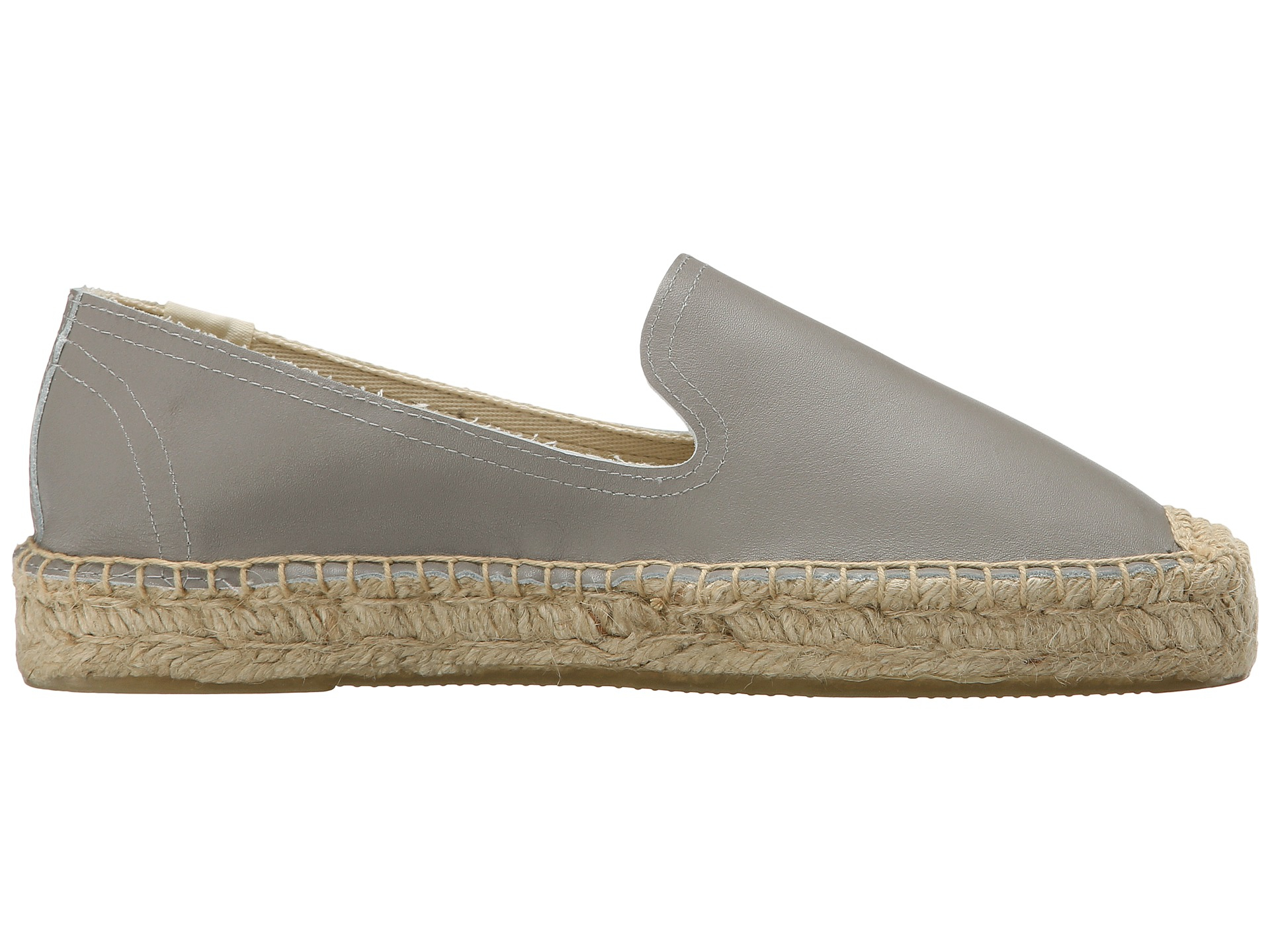 0e82d866daa Lyst - Soludos Platform Smoking Slipper Leather in Gray