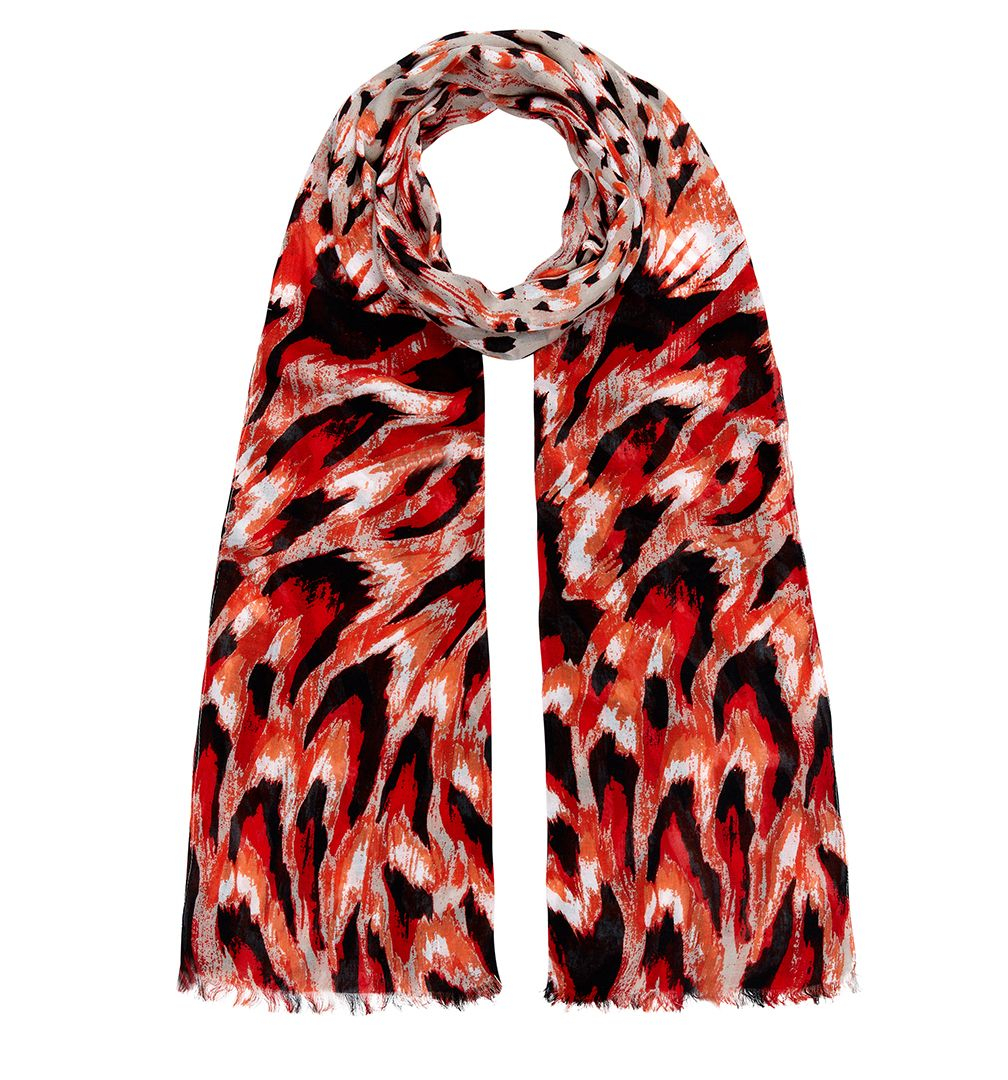 hobbs evie feather scarf in lyst