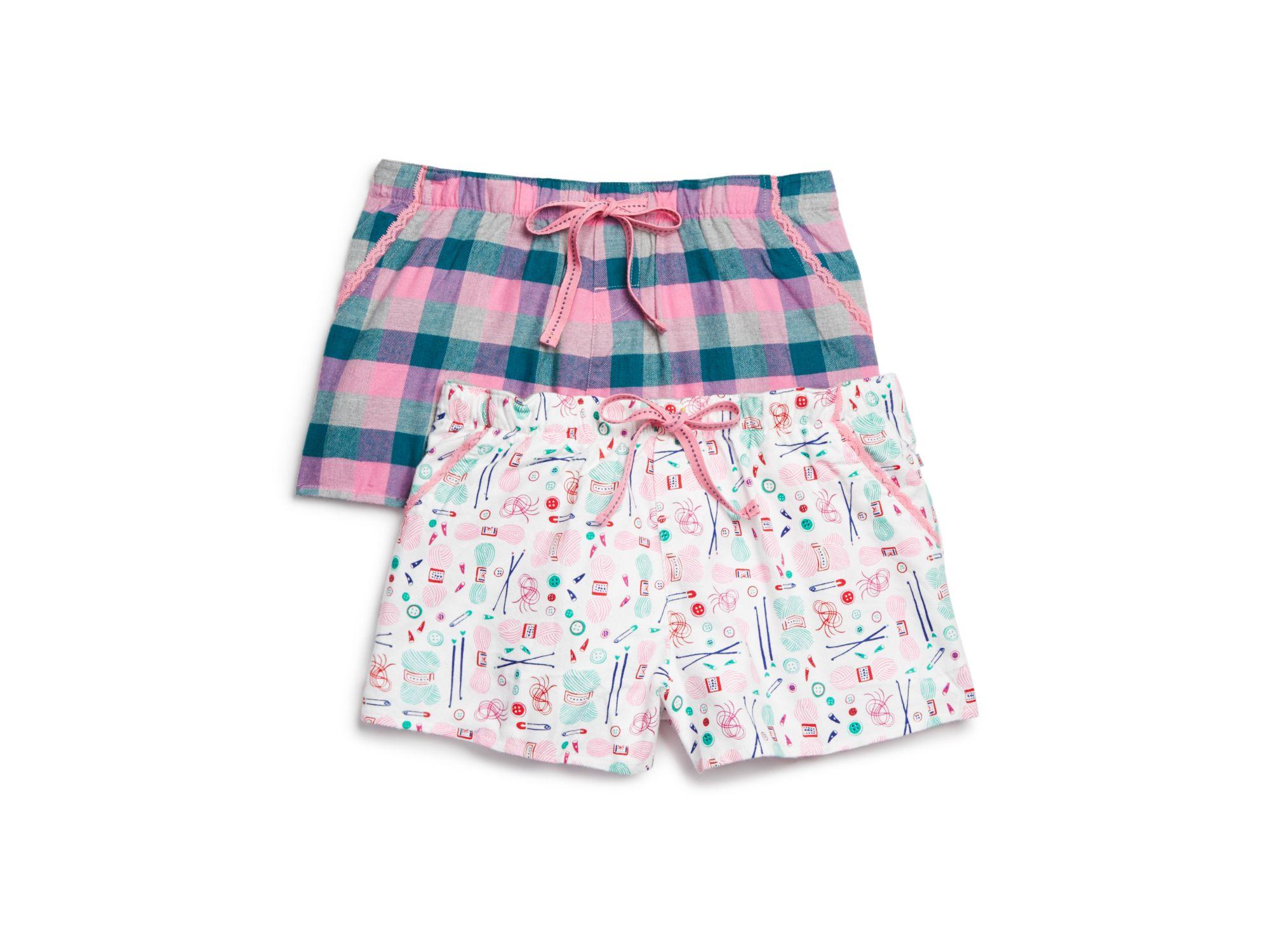 23f8c78c4da0 Lyst - Jane   Bleecker New York Flannel Pajama Shorts