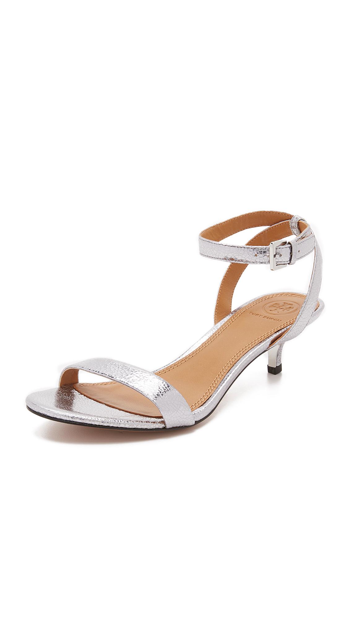 8331dc6e667 Lyst - Tory Burch Elana Metallic Sandals in Metallic