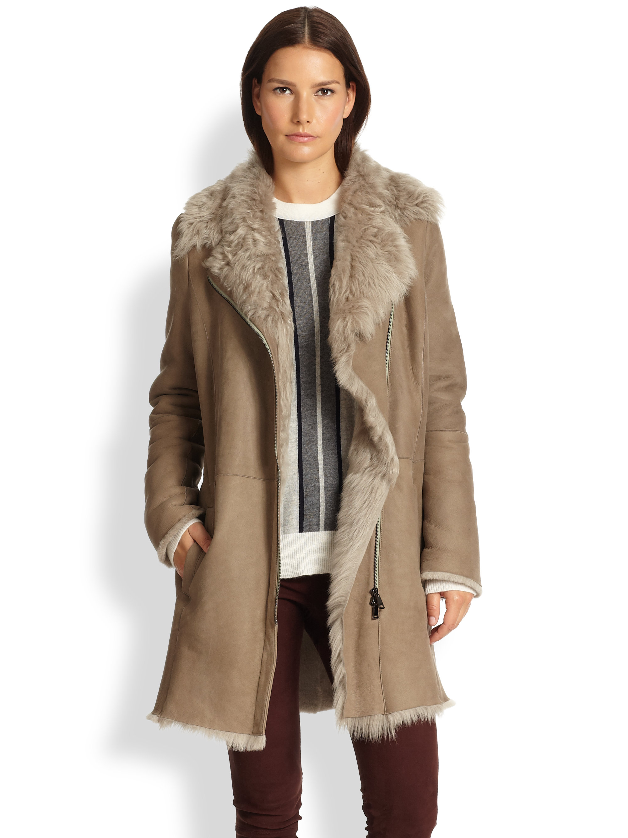 Lamb Shearling Coat Womens