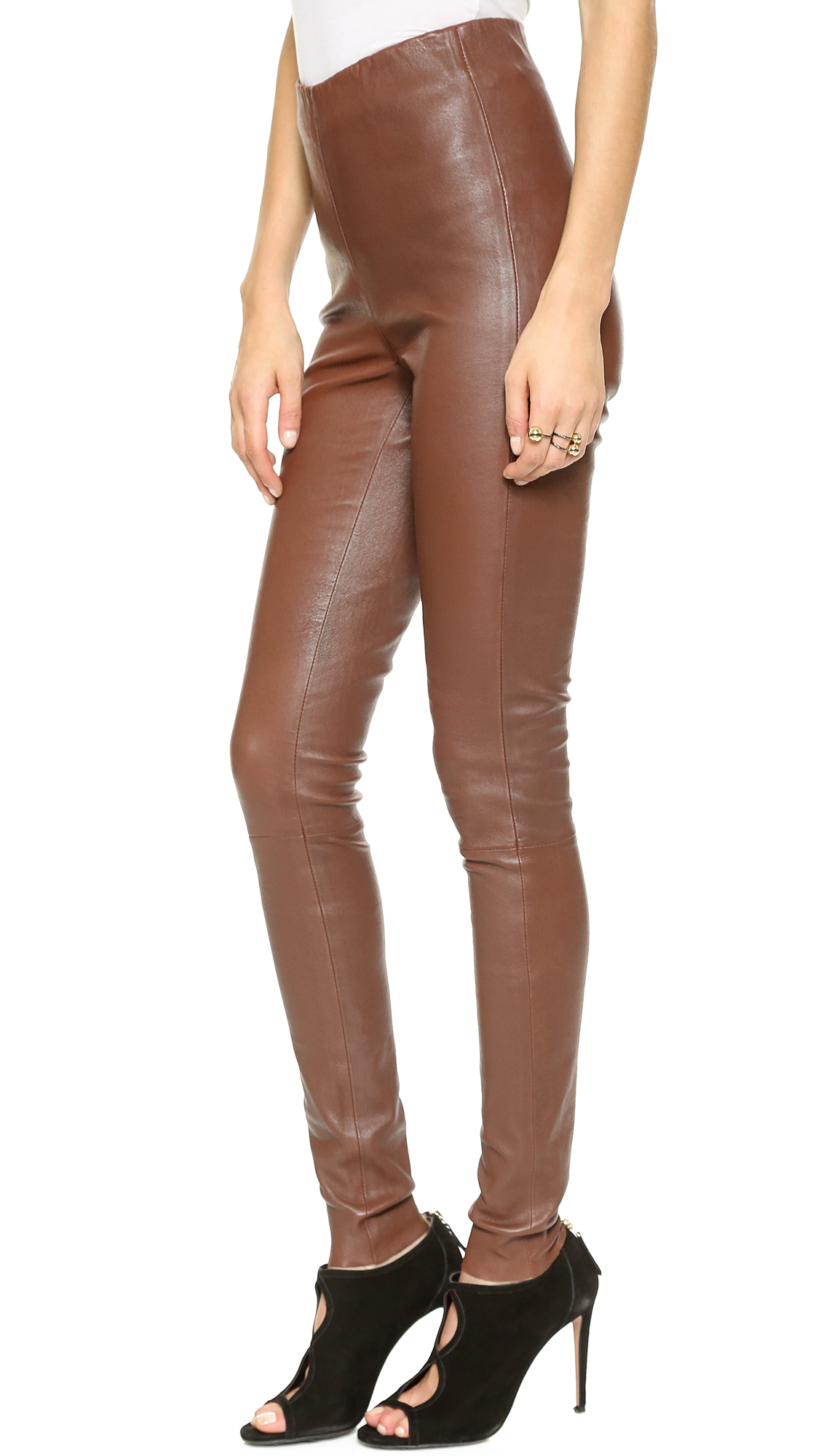 ec4f1a34304856 Gallery. Previously sold at: Shopbop · Women's Leather Leggings