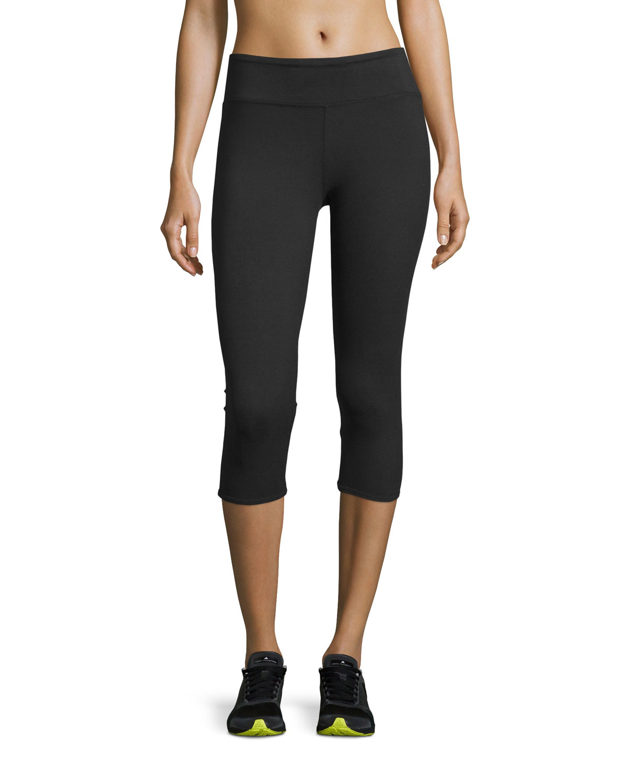 84b77f2c2eb6c Balance Collection Lace-up-cuff Capri Leggings in Black - Lyst