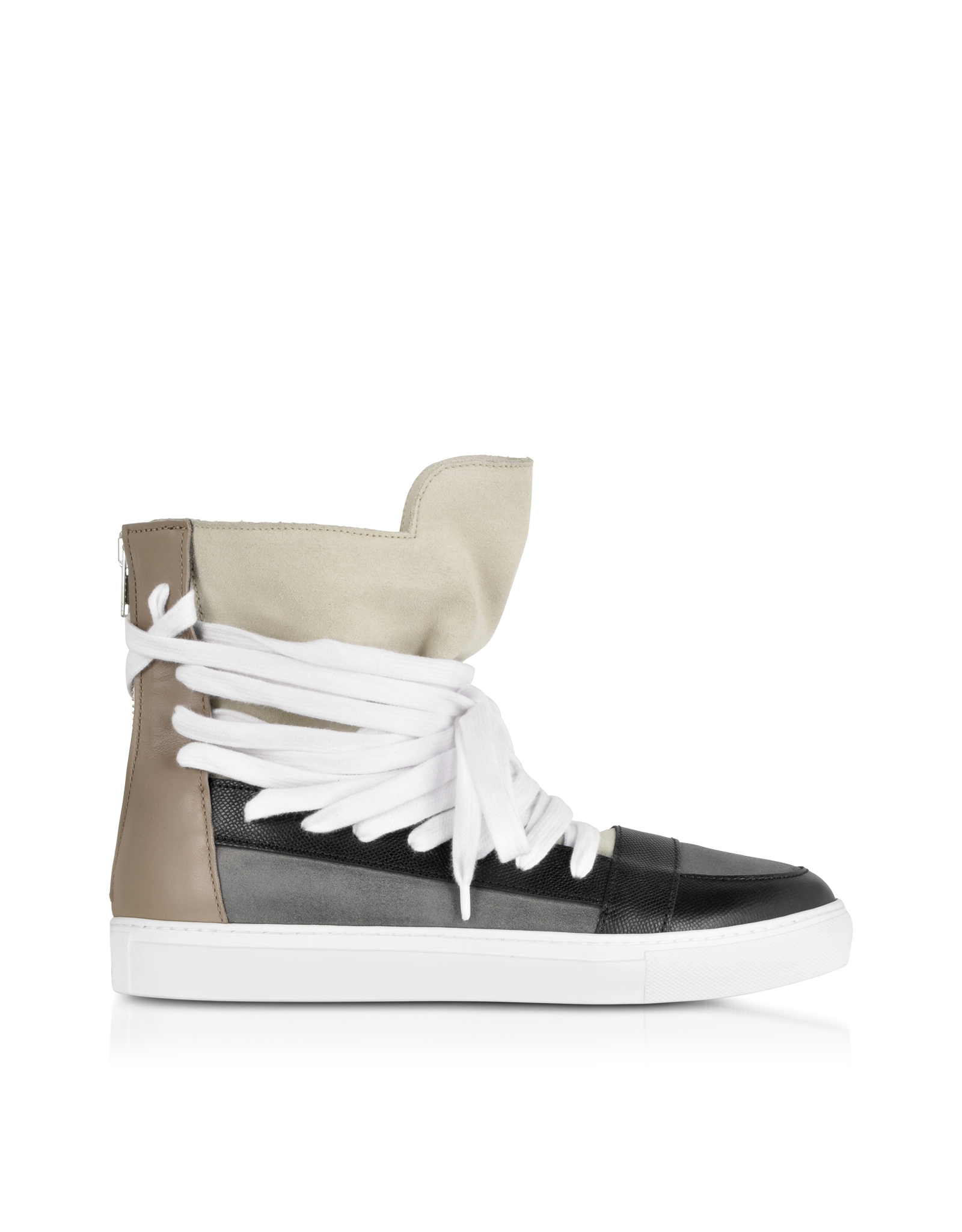 769ed1deb14918 Kris Van Assche Color Block Suede and Leather High Top Sneaker in ...