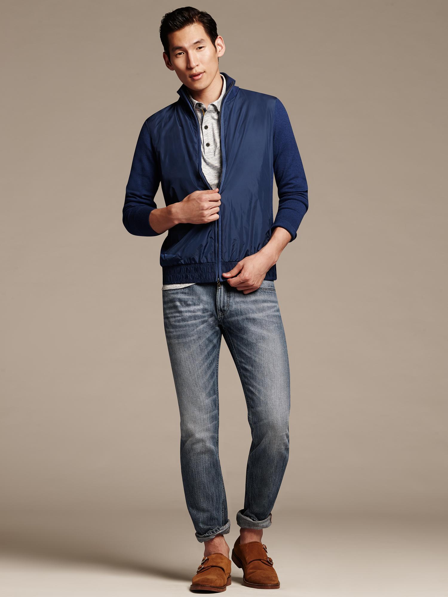 d66df3d0 Banana Republic Vintage Straight-Fit Indigo Jean in Blue for Men - Lyst